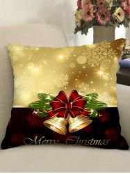 Christmas Bowknot Snowflake Print Decorative Pillowcase -