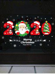Christmas Santa Claus and Tree Print Wall Art Stickers -