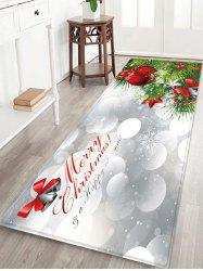 Christmas Tree Greeting Pattern Water Absorption Area Rug -