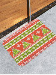 Christmas Tree and Snowflake Pattern Water Absorption Area Rug -