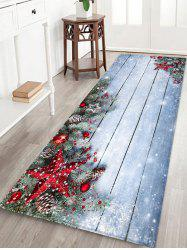 Christmas Star Wooden Board Pattern Water Absorption Area Rug -
