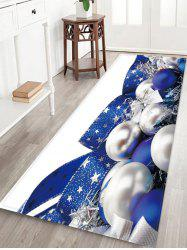 Christmas Ball Print Antiskid Area Rug -