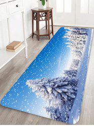 Snow Pine Tree 3D Digital Print Floor Rug -