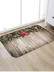 Christmas Pine Nuts Wood Grain Floor Rug -