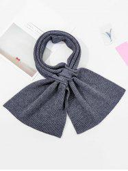 Winter Double-knit Criss Cross Long Scarf -