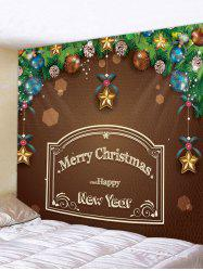 Merry Christmas Letter Ball Print Tapestry Wall Art -