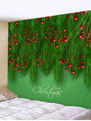Christmas Tree Fruit Print Wall Decor Tapestry -