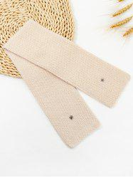 Winter Snap Button Double-knit Long Scarf -
