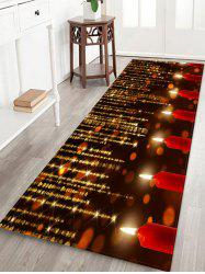 Sparkling Christmas Candle Floor Mat -
