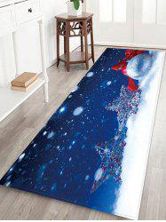 Christmas Snow Star 3D Print Floor Rug -