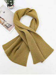 Solid Striped Knitted Unisex Long Scarf -