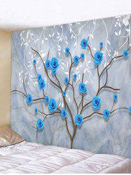 Flower Tree and Leaves Print Tapestry Wall Hanging Art Decoration -