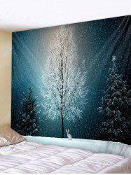 Snow Tree Rabbit 3D Print Wall Tapestry -