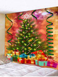 Christmas Tree and Gifts Printed Tapestry Wall Hanging Art Decoration -