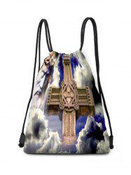 Cross Theme Drawstring Backpack Candy Bag -