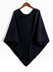 Knitted Faux Cashmere Triangle Shoulder Shawl -