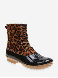 Shell Toe Lace Up Rain Boots -