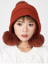 Fuzzy Ball Decorated Winter Suede Hat -