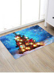 Christmas Tree Print Decorative Non-slip Area Rug -