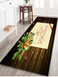 Merry Christmas Music Note Print Non-slip Area Rug -