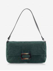 Corduroy Solid Single Shoulder Bag -