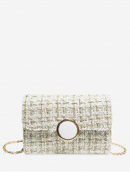 Christmas Square Plaid Chain Shoulder Bag -