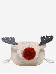 Christmas Deer Horn Crossbody Fuzzy Bag -
