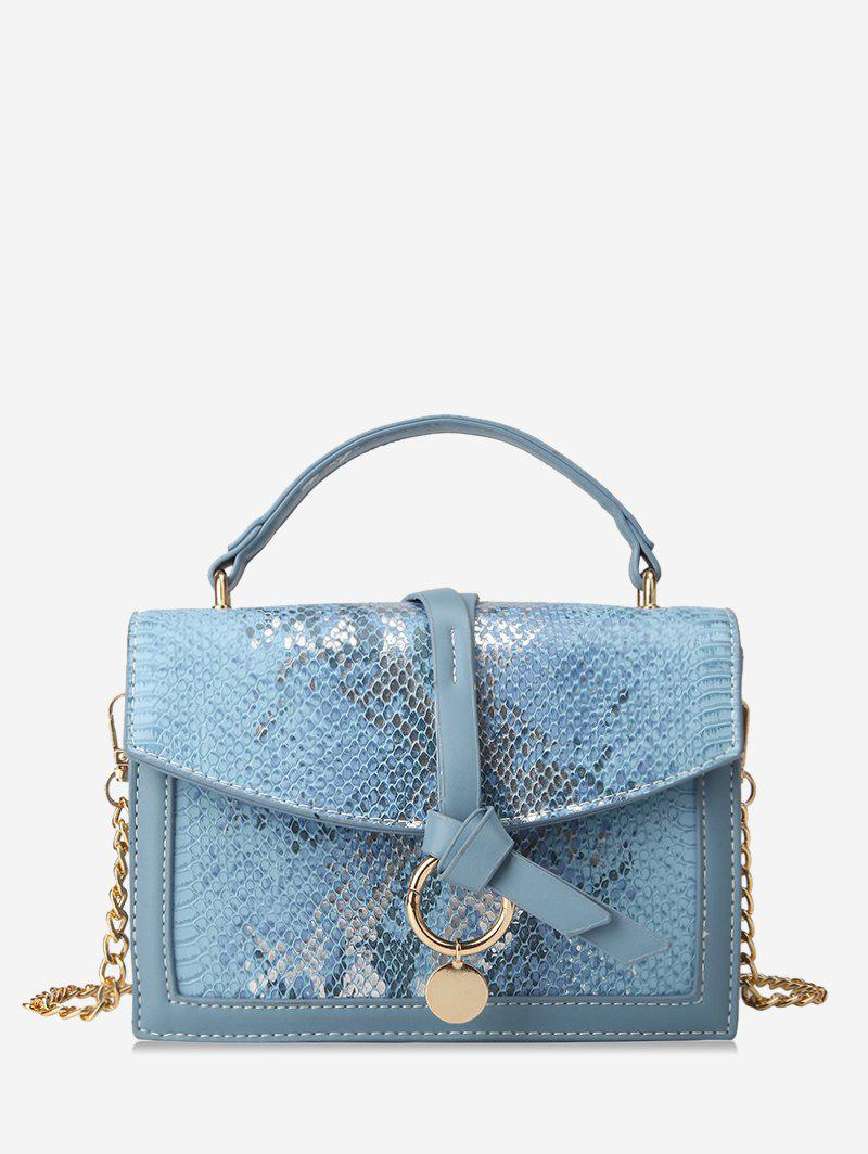 Outfits Snakeskin Embossed Sequined Top Handle Crossbody Bag