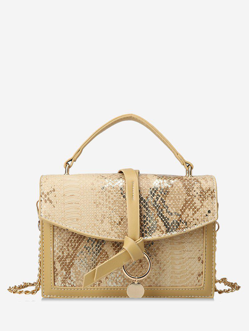 New Snakeskin Embossed Sequined Top Handle Crossbody Bag