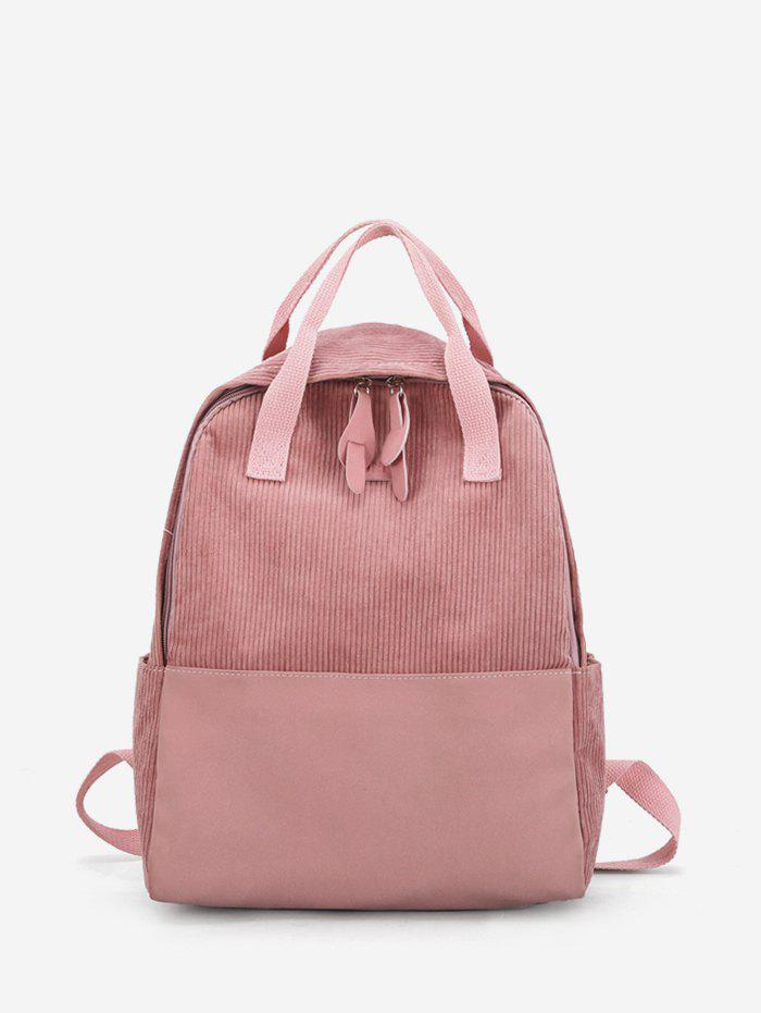 Store Patch Corduroy Casual College Backpack
