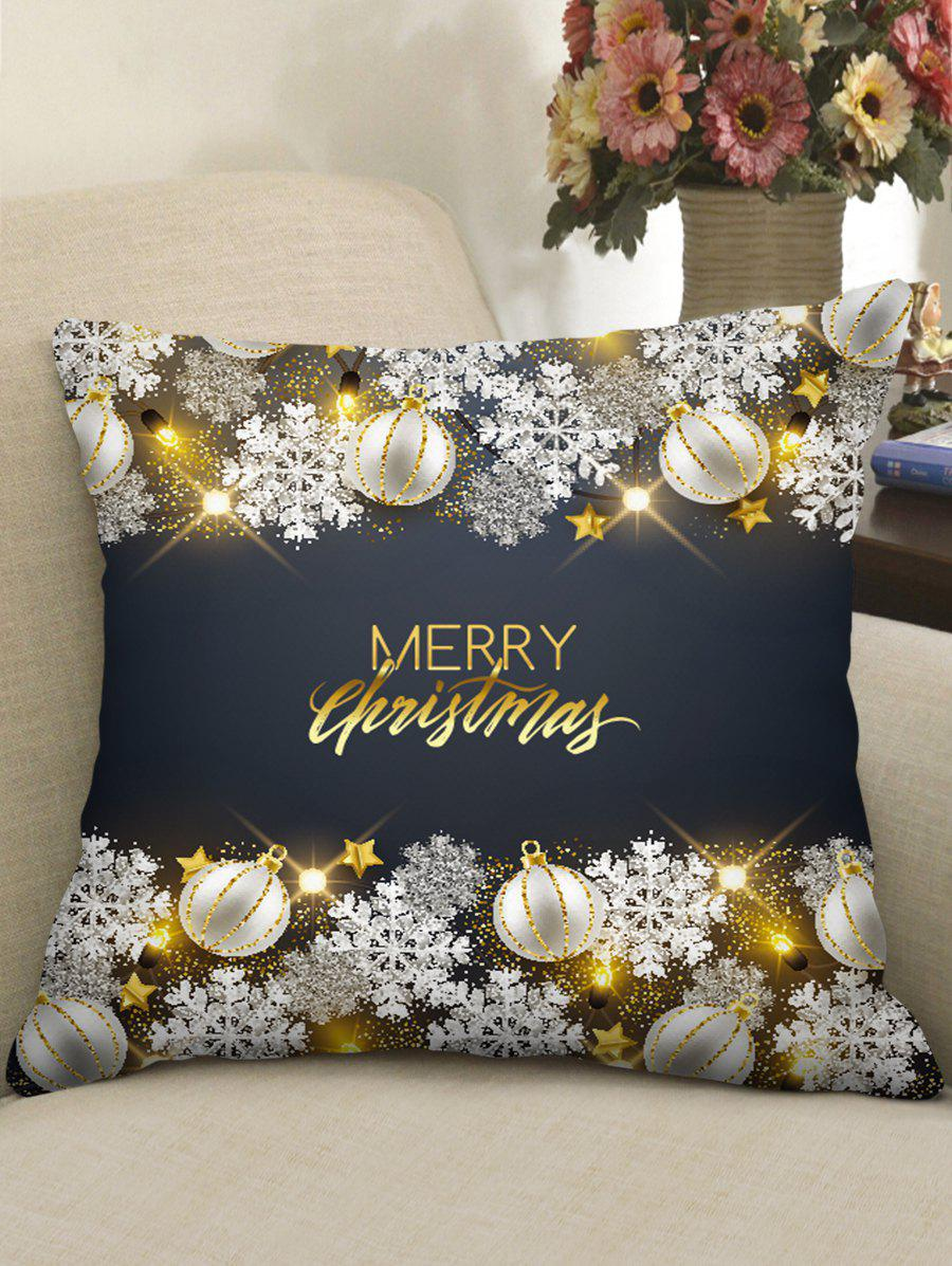 Discount Christmas Greetings Theme Decorative Pillowcase