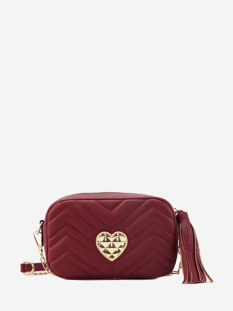Sale Heart Buckle Tassel Shoulder Bag