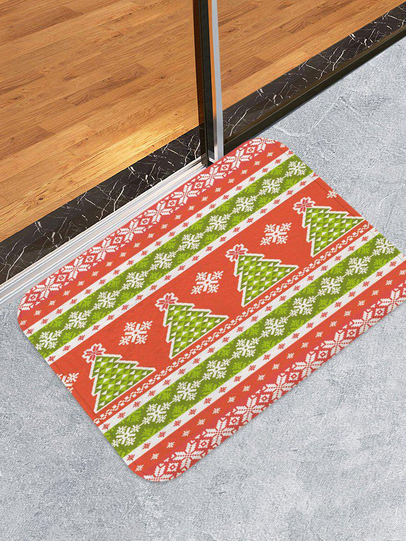 Fashion Christmas Tree and Snowflake Pattern Water Absorption Area Rug