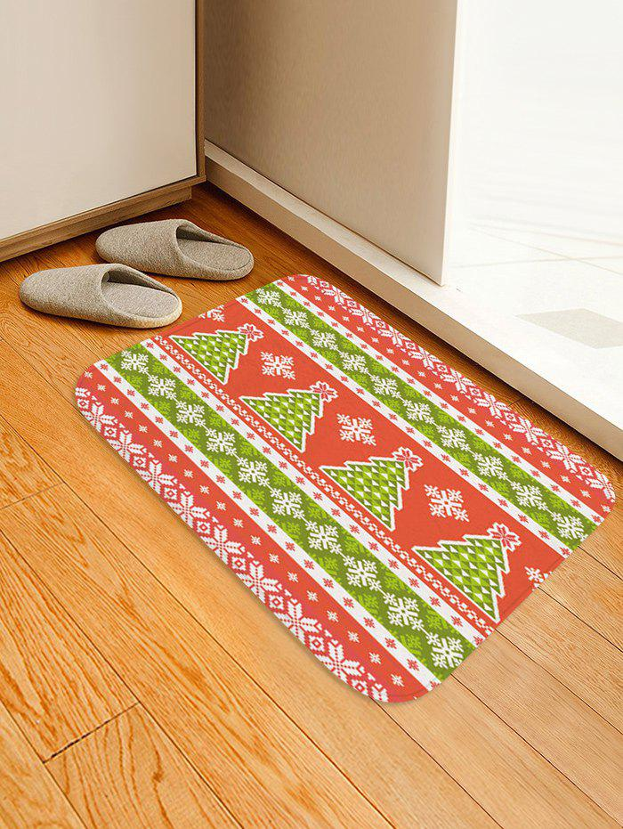 Shop Christmas Tree and Snowflake Pattern Water Absorption Area Rug