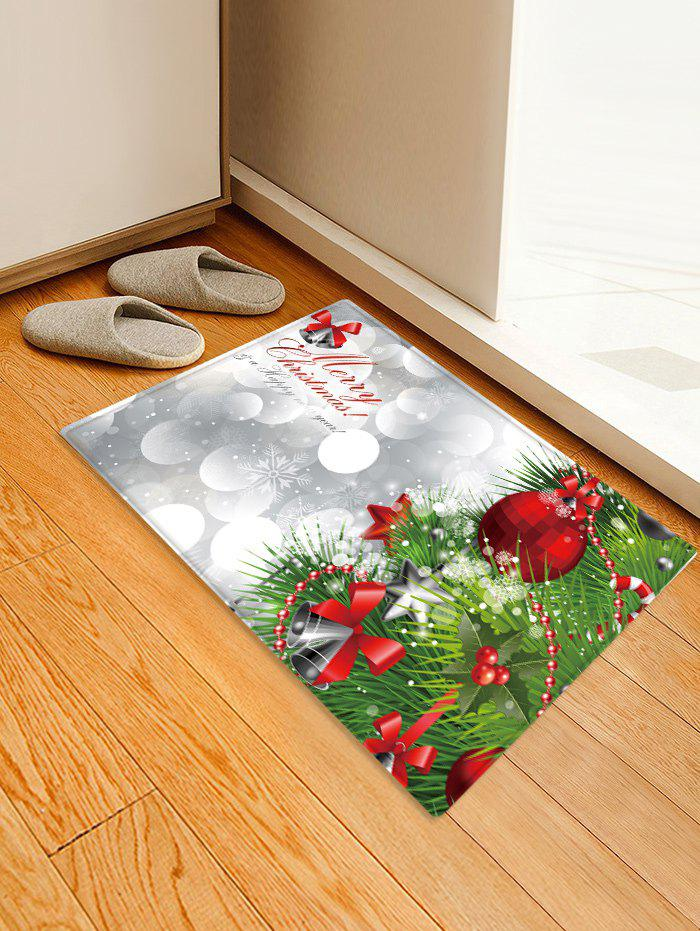 Fancy Christmas Tree Greeting Pattern Water Absorption Area Rug