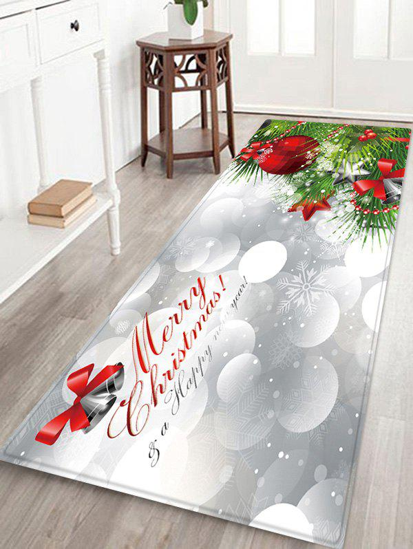 Hot Christmas Tree Greeting Pattern Water Absorption Area Rug