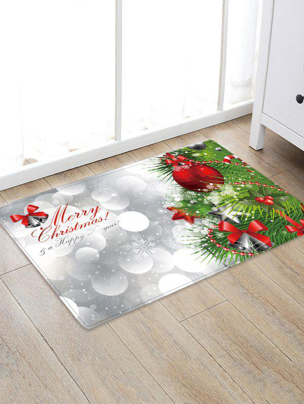 Cheap Christmas Tree Greeting Pattern Water Absorption Area Rug