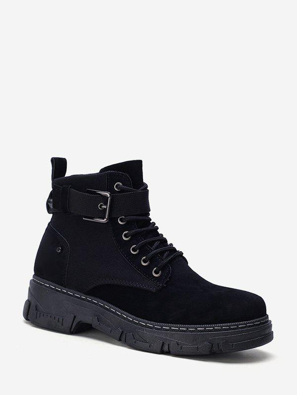 Store Belted Accent Low Heel Cargo Short Boots
