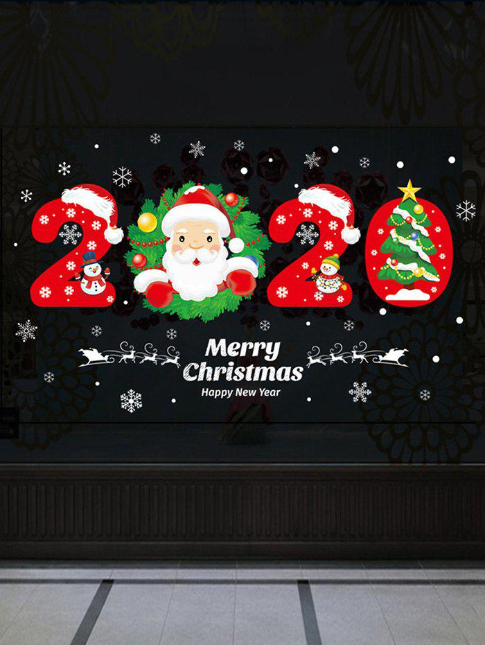 Best Christmas Santa Claus and Tree Print Wall Art Stickers