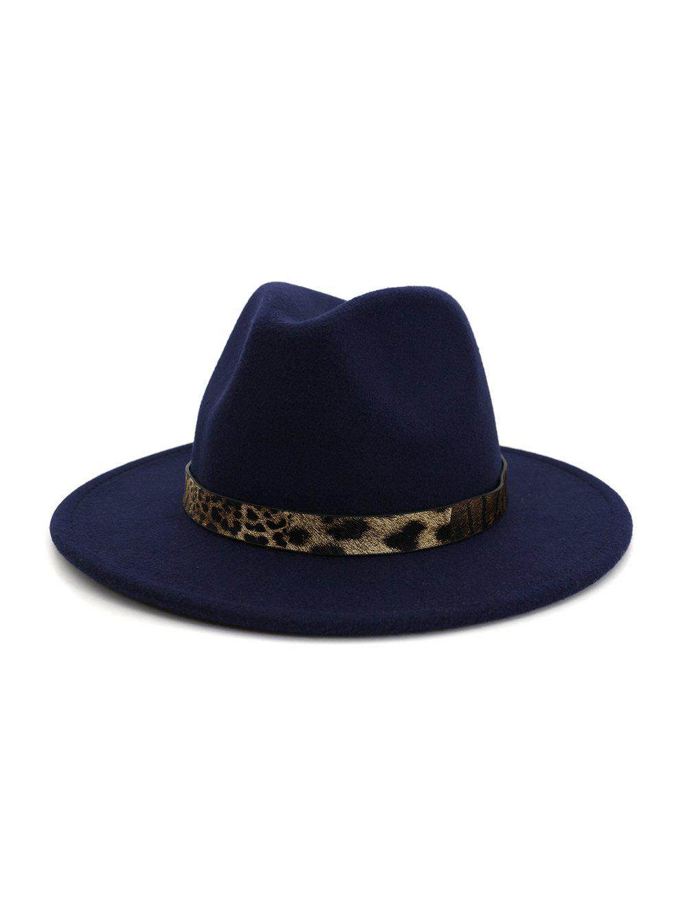 Shop Leopard Print Belt Design Jazz Fedoras