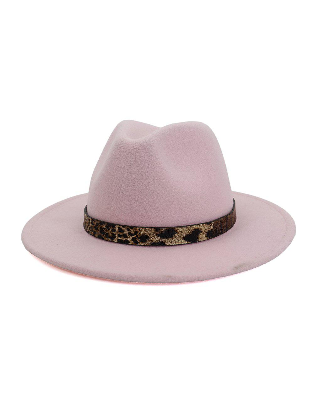 Shops Leopard Print Belt Design Jazz Fedoras