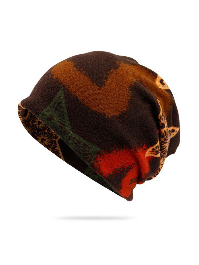 Discount Knitted Dual Use Print Scarf Hat