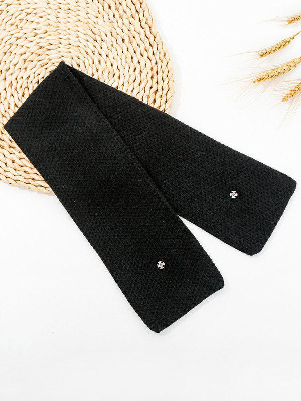 Shops Winter Snap Button Double-knit Long Scarf