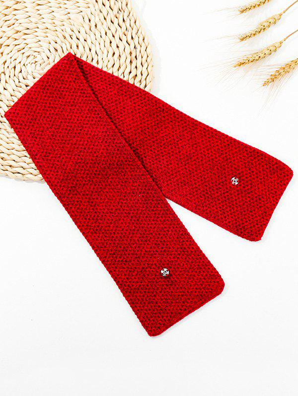 Best Winter Snap Button Double-knit Long Scarf
