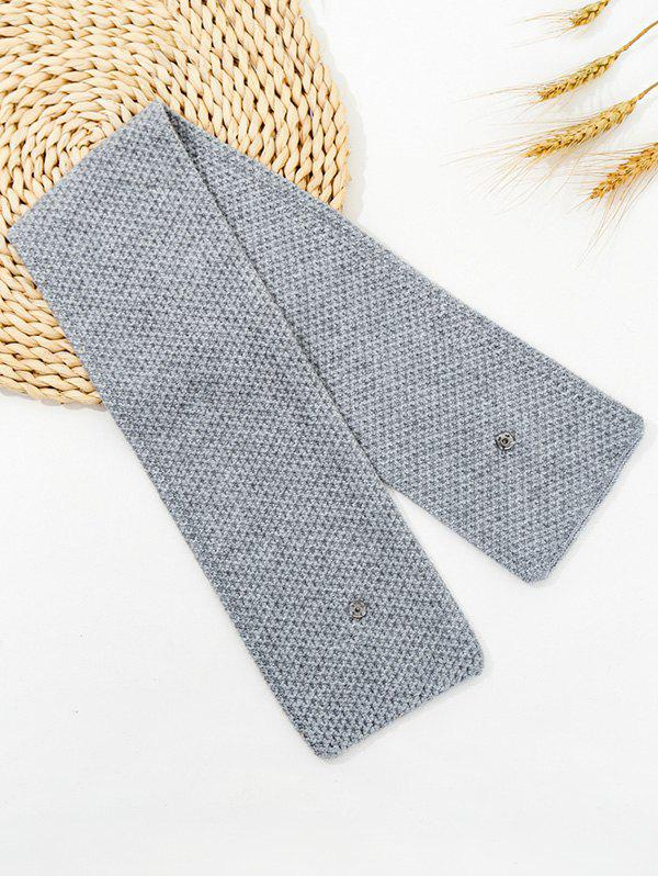 Shop Winter Snap Button Double-knit Long Scarf