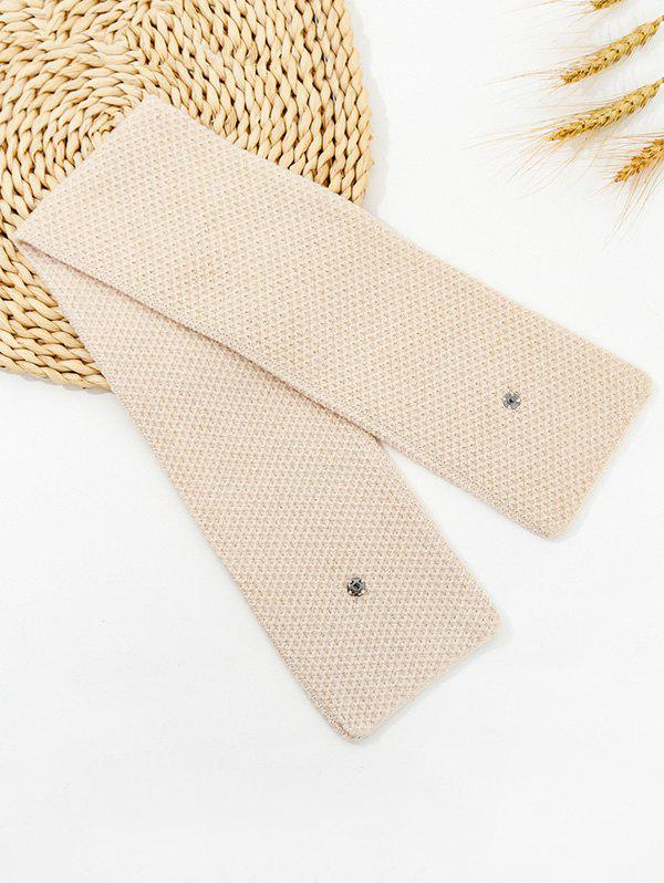Affordable Winter Snap Button Double-knit Long Scarf