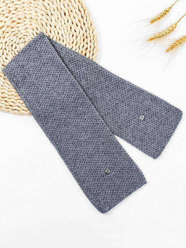 Store Winter Snap Button Double-knit Long Scarf