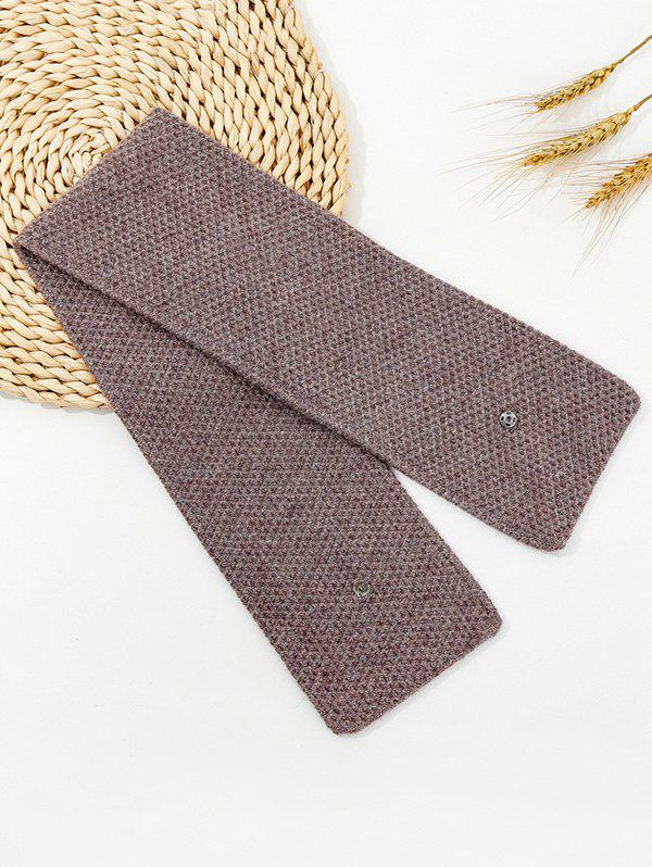 Fashion Winter Snap Button Double-knit Long Scarf