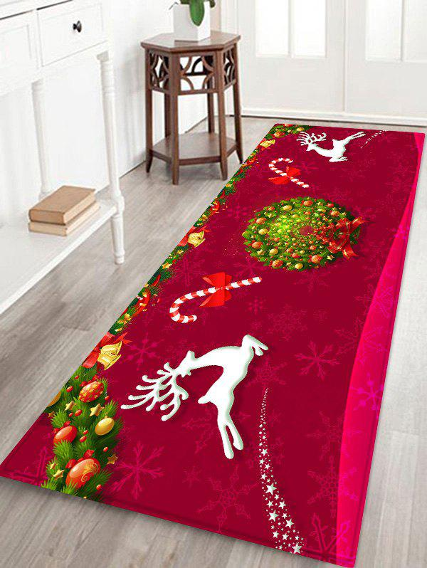 Outfit Elk Candy Garland Print Decorative Christmas Area Rug