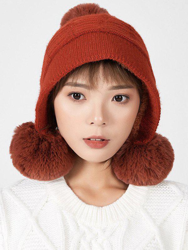 Trendy Fuzzy Ball Decorated Winter Suede Hat